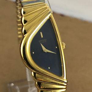 Seiko Triangular Asymmetrical Gold Tone Watch